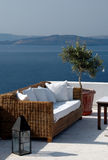 Greek island view from patio Stock Photo