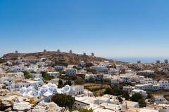 Greek island village. Amorgos village view, Cyclades, Greece Stock Photos