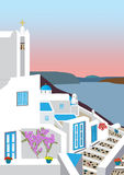Greek Island Village Stock Photography
