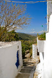Greek island village alley Stock Images