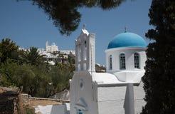Greek island white church Royalty Free Stock Photo