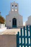 Greek island white church Royalty Free Stock Photos