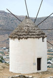 Greek island windmill Ios Cyclades Royalty Free Stock Photos