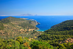 Greek islands in Aegean sea Stock Images