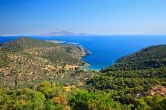 Greek islands in Aegean sea. Poros, Greece Stock Images