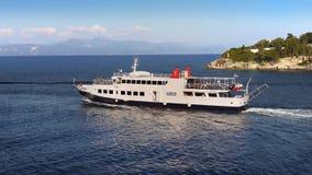 Greek Islands Coast, Cruise Ship Stock Photo