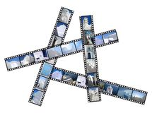 Greek islands filmstrip Royalty Free Stock Photo