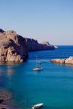 Greek islands - Rhodes, Lindos bay Stock Images