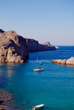Greek islands - Rhodes, Lindos bay Stock Image
