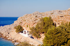 Greek islands - Rhodes, Lindos bay Stock Images
