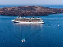 Greek Islands Santorini Cruise Ship Stock Photos