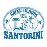 Greek Islands, Santorini, stamp or label Stock Photo