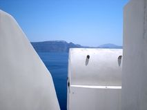 Greek islands: Santorini vaulted houses Royalty Free Stock Photo