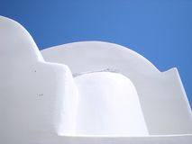 Greek islands: Santorini vaulted houses Royalty Free Stock Photos