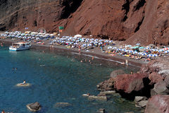 Greek Islands Series - Santorini. The Red Beach of Santorini which is one of the most famous greek islands. Part of a series of photos shot in Greece Stock Photos