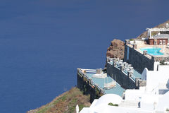 Greek Islands Series - Santorini. Amazing sight from the mountains of Santorini overlooking the sea in a breath taking scene. Part of a series of photos shot in Stock Images