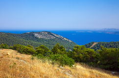 Greek islands at sunny day. Poros, Greece Royalty Free Stock Photo