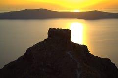 Greek islands sunset Royalty Free Stock Photo