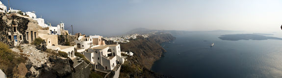 Greek islands view. A island view of Oia, santorini  overlooking the ocean in  Greece Royalty Free Stock Image