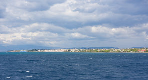 Greek Islands, view from the sea Stock Photography