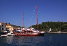 Greek Isles Paxos Gaios harbor Royalty Free Stock Photos