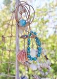 Greek jewelry with semi precious stones Royalty Free Stock Photo