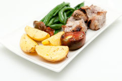 Greek kabobs Stock Photography