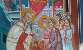 Greek icon 3. Painted Greek icon from church. Fodele. Crete. Greece Stock Photo