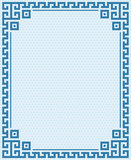 Greek Key Border Frame Sea Colours Background Royalty Free Stock Image