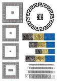 Greek key pattern. Borders and dividers created using ancient Greek key patterns Royalty Free Stock Image