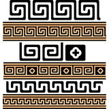 Greek key patterns (Seamless) Royalty Free Stock Photography