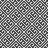 Greek key seamless pattern background in black and white. Vintage and retro abstract ornamental design. Simple flat Royalty Free Stock Photography