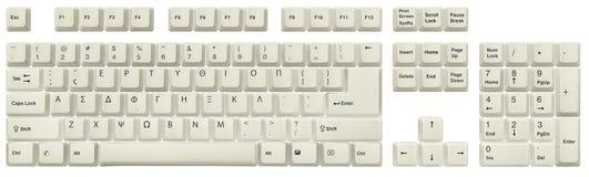 Greek keyboard White stock photo  Image of letters, layout - 136616320