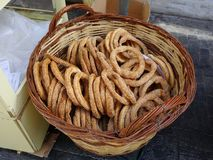 Greek Koulouri Bread Rings, Athens Royalty Free Stock Image