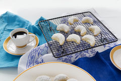 Greek Kourabiedes Stock Image