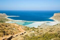 Greek lagoon. Beautiful panorama of greek lagoon in Crete Stock Photo