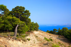 Greek landscape Royalty Free Stock Images