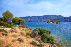Greek landscape Royalty Free Stock Image