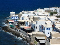 Greek landscape. Traditional white houses in a greek island royalty free stock images