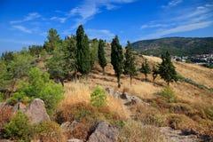 Greek landscape. Colorful greek landscape, Island Poros, Greece Stock Photography