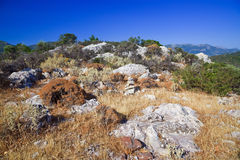 Greek landscape. Poros island, Greece Stock Photos
