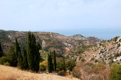 Greek landscape at Lefkas Stock Photography