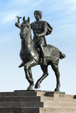 Greek Leader Alexander The Great on Horse Stock Photo