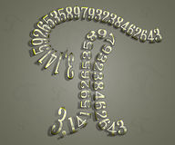 The Greek letter Pi Royalty Free Stock Photo