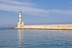 A Greek Lighthouse Royalty Free Stock Photos