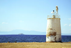 Greek lighthouse Royalty Free Stock Image
