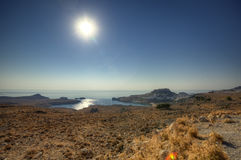 Greek Lindos panorama Royalty Free Stock Photo