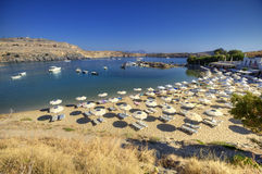 Greek Lindos panorama Stock Image