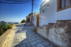 Greek Lindos panorama Stock Images