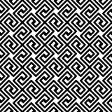 Greek Lines Diagonal Meander Seamless Pattern Royalty Free Stock Images